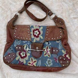 Free People Pandora bag. Leather & beaded fabric